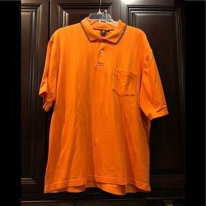 Used, XL Pat Primo polo shirt. Orange with collar